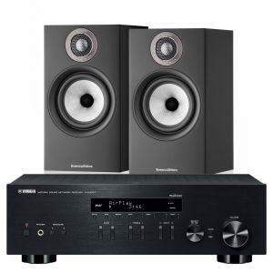 Yamaha R-N803D Amplifier with Bowers & Wilkins 607 S2 Standmount Loudspeakers