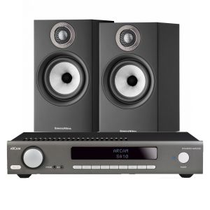 Arcam SA10 Integrated Amplifier with Bowers & Wilkins 607 S2 Standmount Loudspeakers