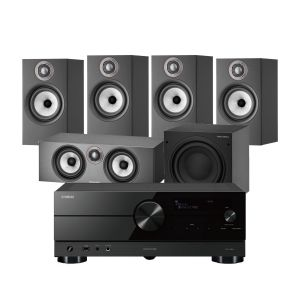 Yamaha RX-A2A AV Receiver with Bowers & Wilkins 607 S2 Anniversary Edition 5.1 Home Cinema Speaker Package (607 S2 Rears)