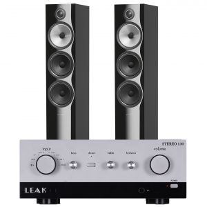 LEAK Stereo 130 Integrated Amplifier with Bowers & Wilkins 703 S2 Floorstanding Speakers