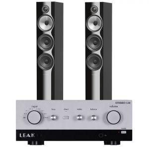 LEAK Stereo 130 Integrated Amplifier with Bowers & Wilkins 704 S2 Floorstanding Speakers