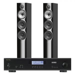 Rotel A11 Tribute Integrated Amplifier with Bowers & Wilkins 704 S2 Floorstanding Speakers