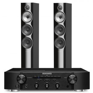 Marantz PM6007 Integrated Amplifier with Bowers & Wilkins 704 S2 Floorstanding Speakers