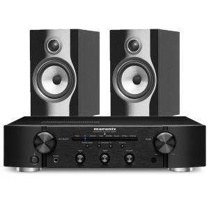 Marantz PM6007 Integrated Amplifier with Bowers & Wilkins 706 S2 Standmount Speakers
