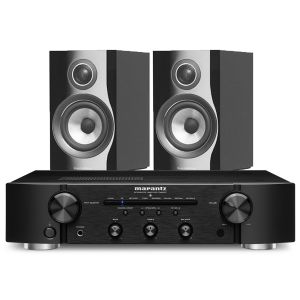 Marantz PM6007 Integrated Amplifier with Bowers & Wilkins 707 S2 Standmount Speakers