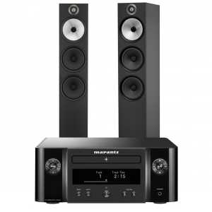 Marantz Melody X. M-CR612 Music System with Bowers & Wilkins 603 Floorstanding Speakers