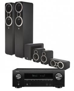 Denon AVR-X1600H AV Receiver with Q Acoustics 3050i Cinema Pack