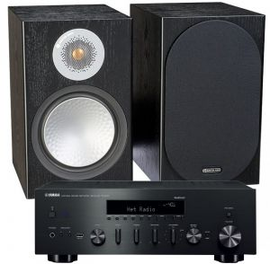 Yamaha R-N602 Amplifier with Monitor Audio Silver 100 Speakers