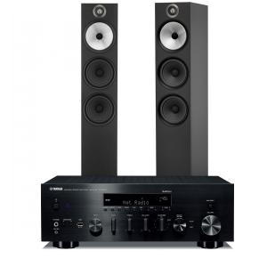 Yamaha R-N803D Amplifier with Bowers & Wilkins 603 Floorstanding Speakers