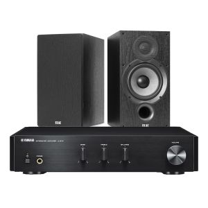 Yamaha A-670 with Elac Debut B6.2 Bookshelf Speakers