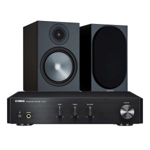 Yamaha A-670 with Monitor Audio Bronze 100 Speakers (6th Gen)