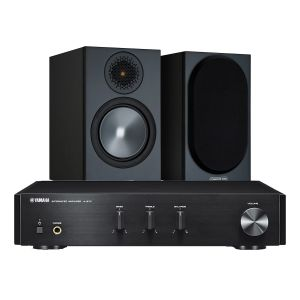 Yamaha A-670 with Monitor Audio Bronze 50 Speakers (6th Gen)