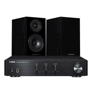 Yamaha A-670 with Wharfedale Diamond 12.0 Bookshelf Speakers