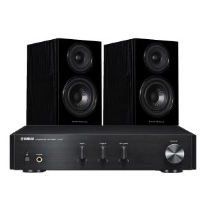 Yamaha A-670 with Wharfedale Diamond 12.1 Bookshelf Speakers