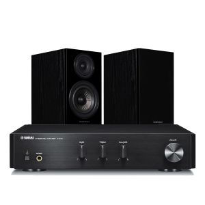Yamaha A-670 with Wharfedale Diamond 12.2 Bookshelf Speakers