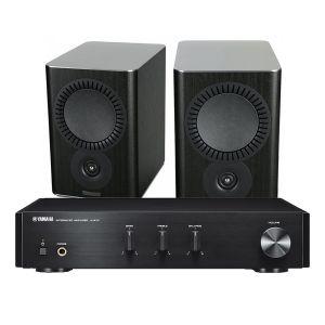 Yamaha A-670 with Mission QX-2 Bookshelf Speakers