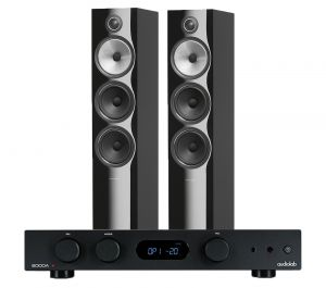 Audiolab 6000A Amplifier with Bowers & Wilkins 703 S2 Floorstanding Speakers