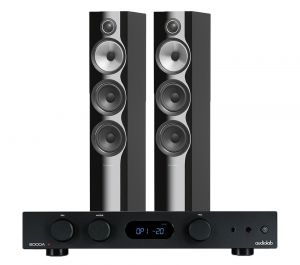 Audiolab 6000A Amplifier with Bowers & Wilkins 704 S2 Floorstanding Speakers