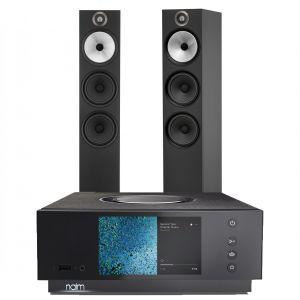 Naim Atom HDMI with Bowers & Wilkins 603 Floorstanding Speakers
