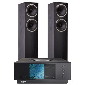 Naim Atom HDMI with Fyne Audio F501 Floorstanding Speakers