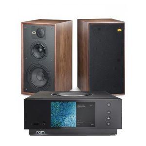 Naim Atom HDMI with Wharfedale Linton Heritage Standmount Speakers