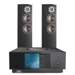 Naim Atom HDMI with Dali Oberon 5 Floorstanding Speakers