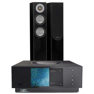 Naim Atom HDMI with Monitor Audio Silver 200 Floorstanding Speakers