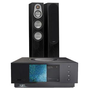Naim Atom HDMI with Monitor Audio Silver 300 Floorstanding Speakers