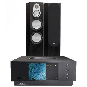 Naim Atom HDMI with Monitor Audio Silver 500 Floorstanding Speakers
