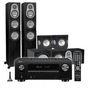Denon AVC-X3700H Amplifier with Monitor Audio Silver 300 AV12 5.1 Speaker Pack