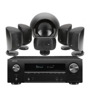 Denon AVR-X1600H AV Receiver with Bowers & Wilkins MT-60D Home Theatre System