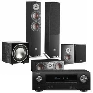 Denon AVR-X1600H AV Receiver with Dali Oberon 5 AV Speaker System