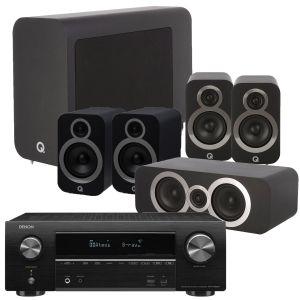 Denon AVR-X1600H AV Receiver with Q Acoustics 3030i AV Speaker Pack