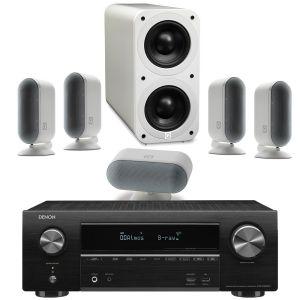 Denon AVR-X1600H DAB AV Receiver with Q Acoustics Q7000i Plus 5.1 Speaker System
