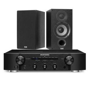 Marantz PM6007 Integrated Amplifier with Elac Debut B5.2 Bookshelf Speakers