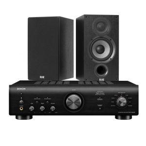 Denon PMA-600NE Integrated Amplifier with Elac Debut B5.2 Bookshelf Speakers