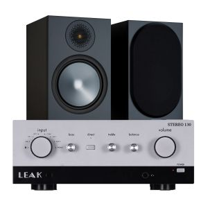 LEAK Stereo 130 Integrated Amplifier with Monitor Audio Bronze 100 Speakers (6th Gen)