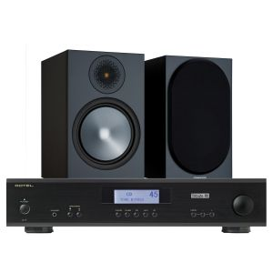 Rotel A11 Tribute Integrated Amplifier with Monitor Audio Bronze 100 Speakers (6th Gen)