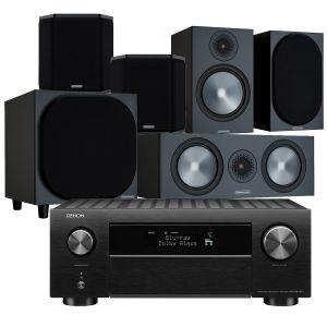Denon AVC-X4700H AV Amplifier with Monitor Audio Bronze 100 AV Speaker Pack