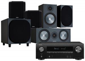 Denon AVR-X1600H AV Receiver with Monitor Audio Bronze 100 AV Speaker Pack