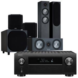 Denon AVC-X4700H AV Amplifier with Monitor Audio Bronze 200 AV Speaker Pack