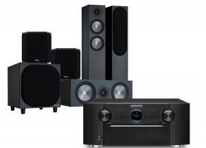 Marantz SR7015 9.2ch 8K AV Amplifier with Monitor Audio Bronze 200 AV Speaker Pack