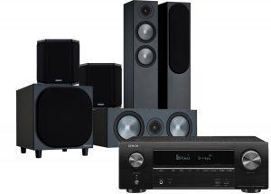 Denon AVR-X1600H AV Receiver with Monitor Audio Bronze 200 AV Speaker Pack