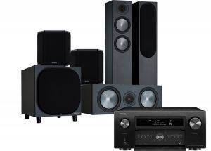 Denon AVC-X8500H AV Receiver with Monitor Audio Bronze 200 AV Speaker Pack