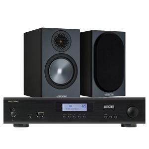 Rotel A11 Tribute Integrated Amplifier with Monitor Audio Bronze 50 Speakers (6th Gen)