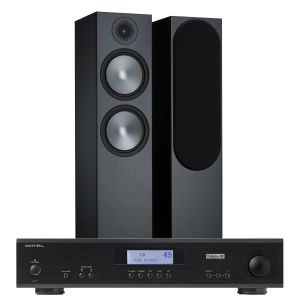 Rotel A11 Tribute Integrated Amplifier with Monitor Audio Bronze 500 Speakers (6th Gen)