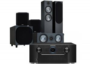 Marantz SR7015 9.2ch 8K AV Amplifier with Monitor Audio Bronze 500 AV Speaker Pack