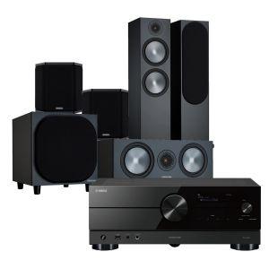 Yamaha RX-A2A AV Receiver with Monitor Audio Bronze 500 AV Speaker Pack