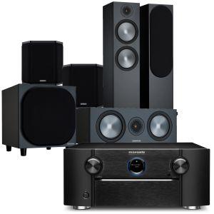 Marantz SR8015 11.2ch 8K AV Amplifier with Monitor Audio Bronze 500 AV Speaker Pack