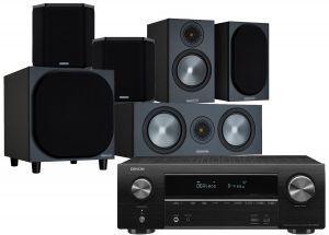 Denon AVR-X1600H AV Receiver with Monitor Audio Bronze 50 AV Speaker Pack